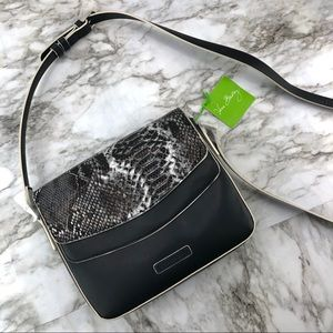 Vera Bradley Black Snakeskin Crossbody Bag Purse